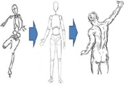 how to draw the manikin figure