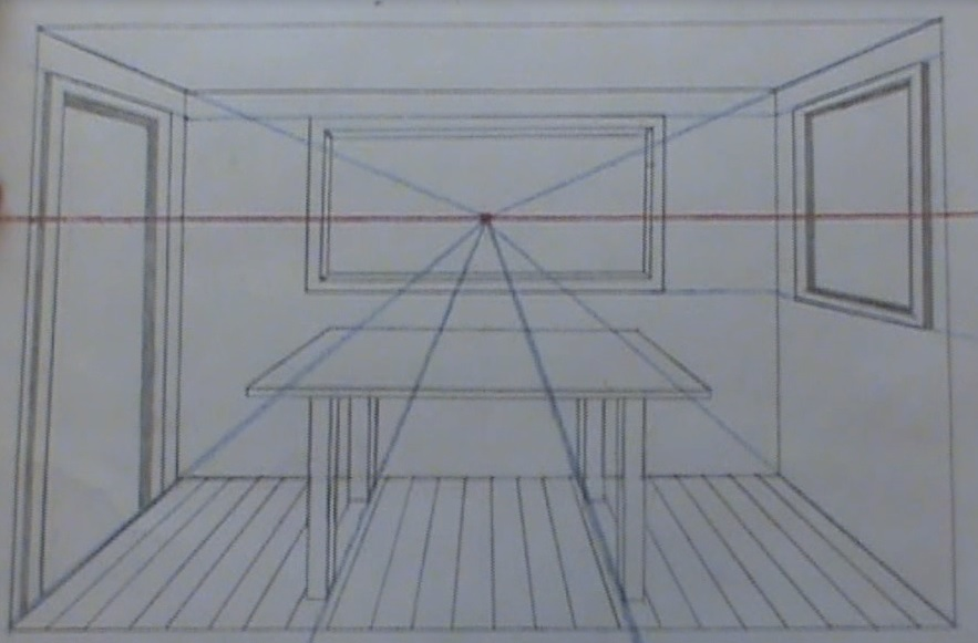 drawing a room in perspective