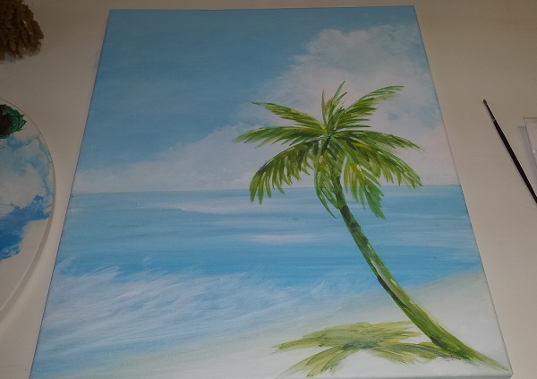 Painting A Beach Scene In Acrylic Final Seascape