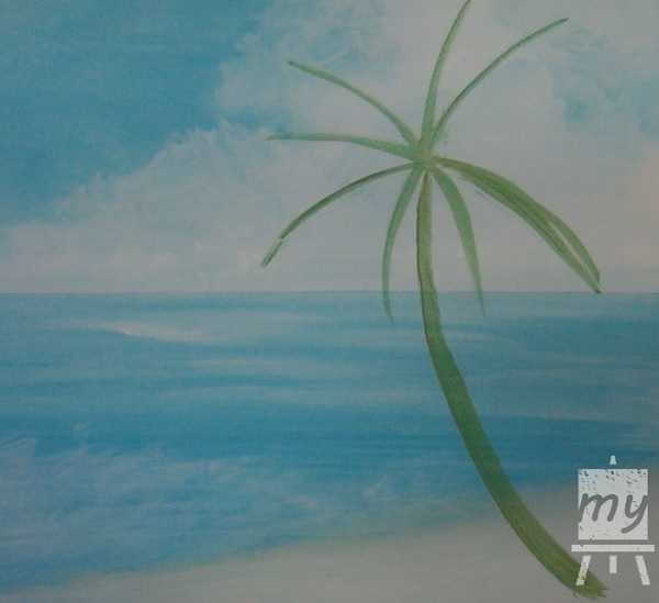 Painting A Palm Tree In Acrylic 1