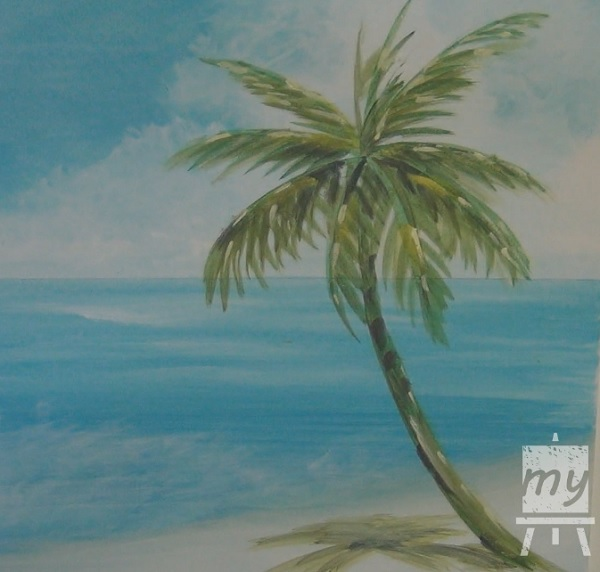 Painting A Palm Tree In Acrylic 6
