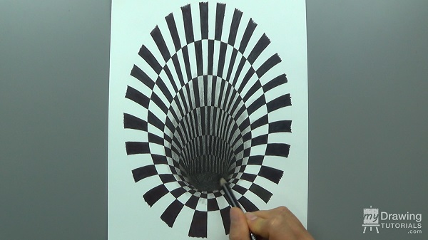 3D Hole Optical Illusion Drawing 14