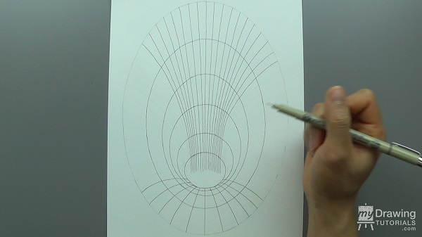 3D Hole Optical Illusion Drawing 7