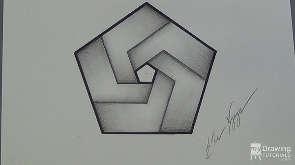 Impossible Pentagon Drawing 30