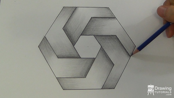 Impossible Hexagon Drawing 27