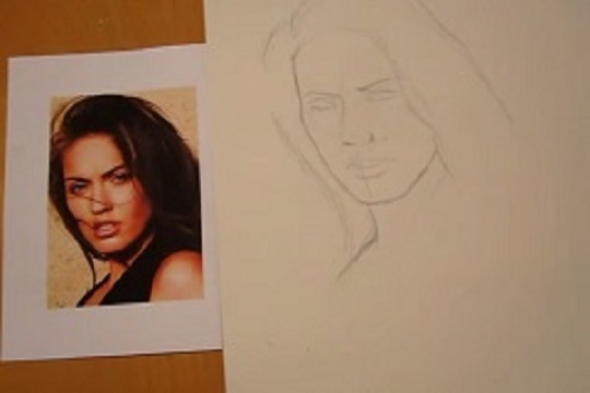 How To Draw Megan Fox's Face