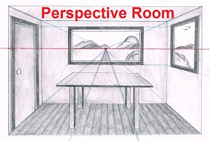 Linear Perspective Drawing Lesson Series [6 of 6] – One Point Perspective Room Drawing – Draw Backgrounds