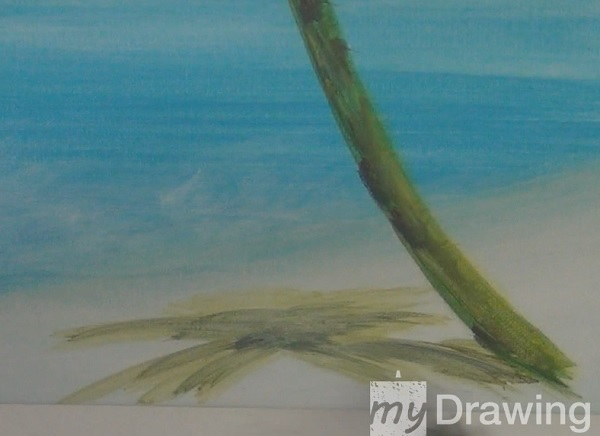 Painting A Palm Tree In Acrylic 5