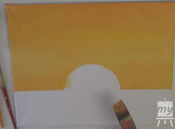 acrylic painting of sunset 2