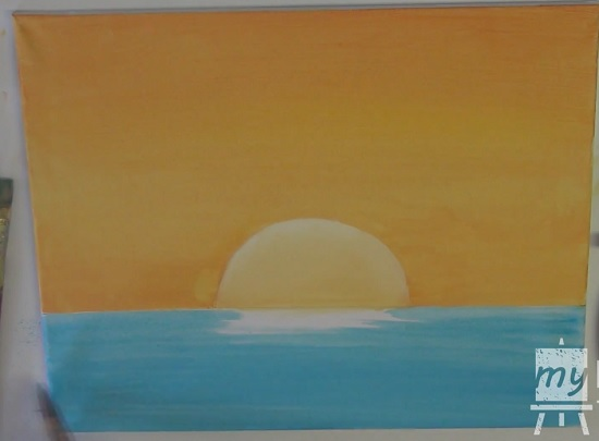 acrylic painting of sunset 4