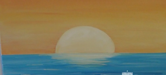 acrylic painting of sunset 8