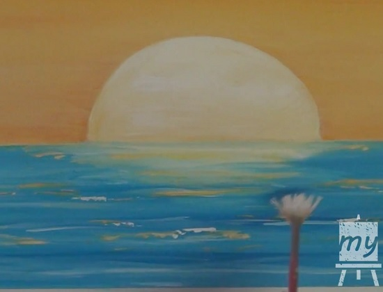 acrylic painting of sunset 9