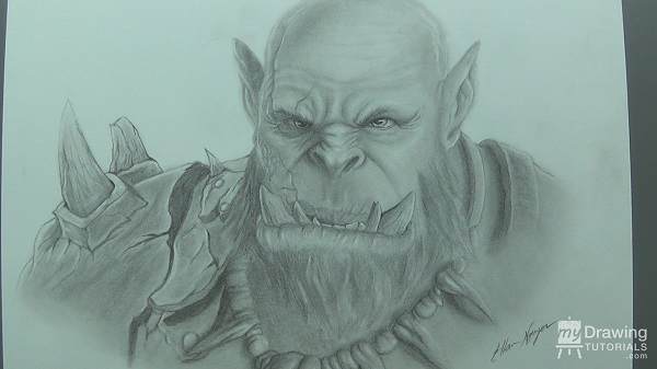 How to Draw an Orc Warrior from Warcraft