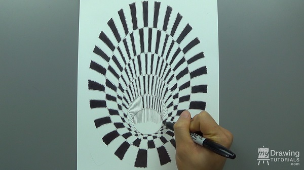 3D Hole Optical Illusion Drawing 10