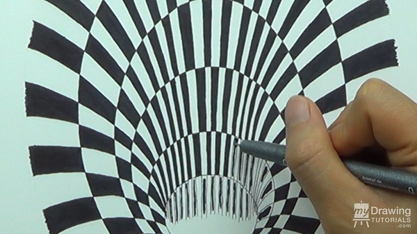 optical illusions how to draw step by step