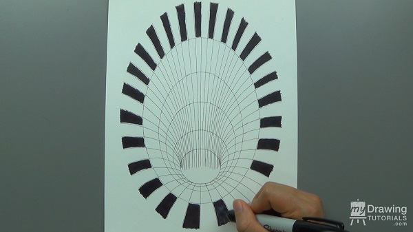 3D Hole Optical Illusion Drawing 9