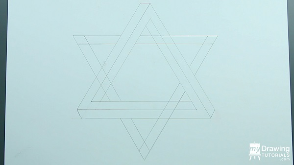 Drawing Impossible Star of David 10
