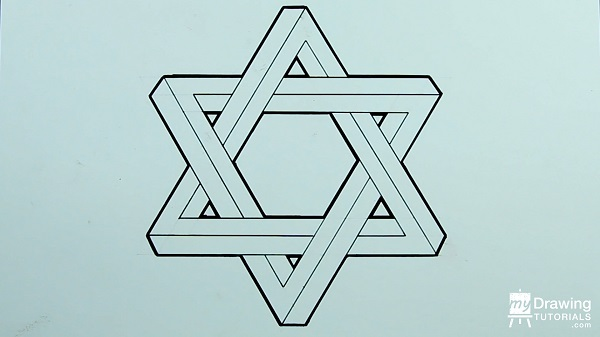 Drawing Impossible Star of David 16