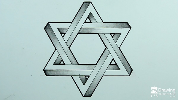 Drawing Impossible Star of David 19