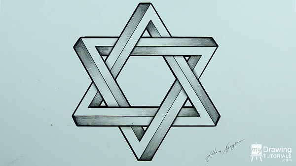 Drawing Impossible Star of David 21