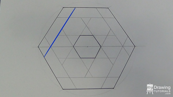 Impossible Hexagon Drawing 14