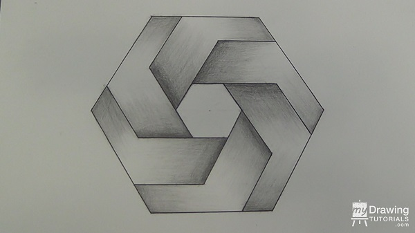 Impossible Hexagon Drawing 26