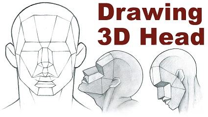 Portrait Drawing Basics 3/3 – Drawing a 3D Head