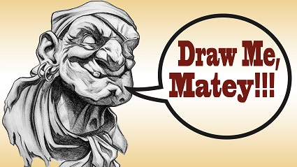 How to Draw a Pirate Portrait In Charcoal